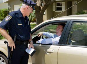 getting a traffic ticket